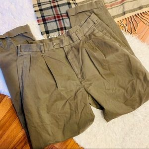 NATURAL ISSUE Men's Pleated Khaki Pants